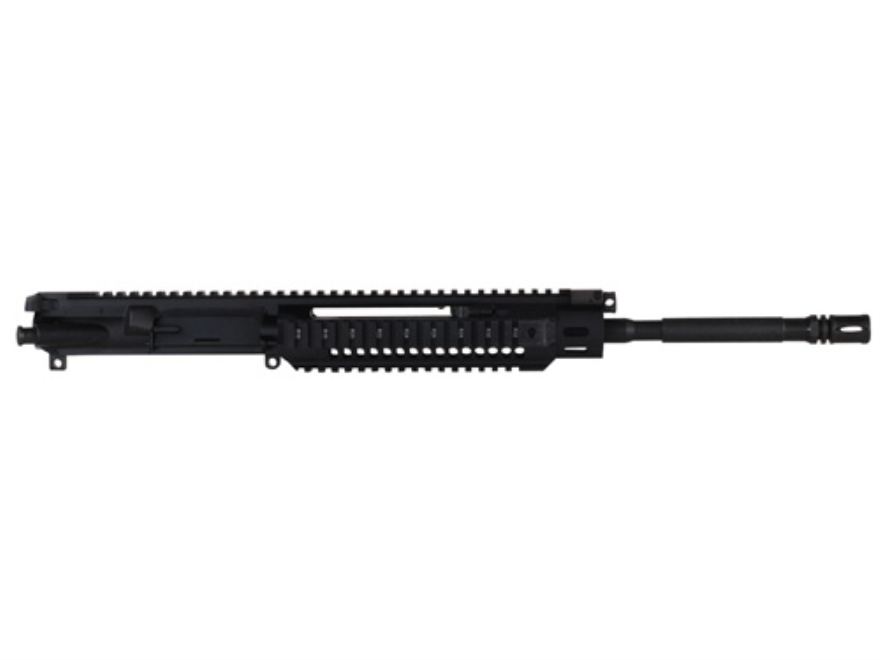 "Adcor Defense Gas Piston Upper Receiver Assembly 5.56x45mm NATO AR-15 16"" Barrel 1  in 7"" Twist Chrome Lined with Quad Rail Free Float Handguard, Forward Ambidextrous Side Charging Handle"