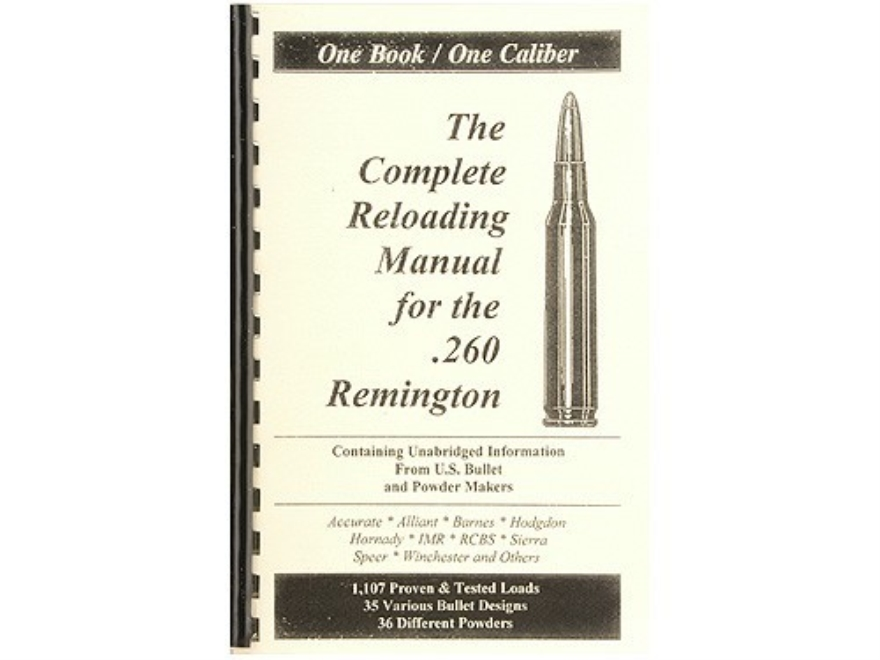 "Loadbooks USA ""260 Remington"" Reloading Manual"