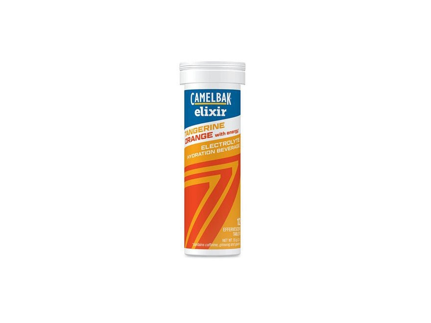 CamelBak Elixir Electrolyte Hydration Tablet with Caffiene Tangerine Orange Pack of 12