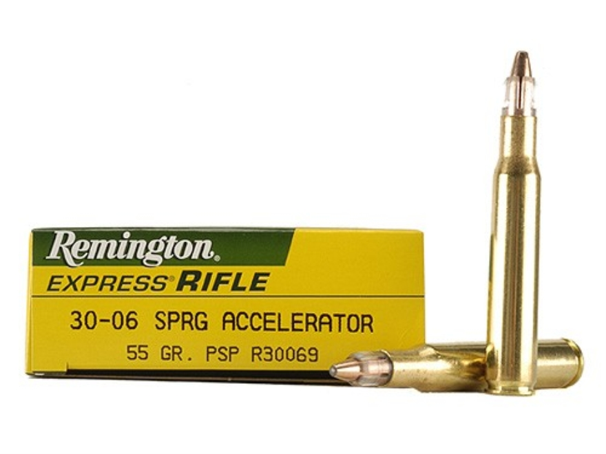 Remington Express Ammunition 30-06 Springfield Accelerator 55 Grain Pointed Soft Point Box of 20