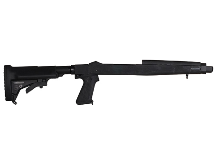 Choate 5-Position Collapsible Rifle Stock with Pistol Grip Ruger 10/22 Standard Barrel Channel Synthetic Black