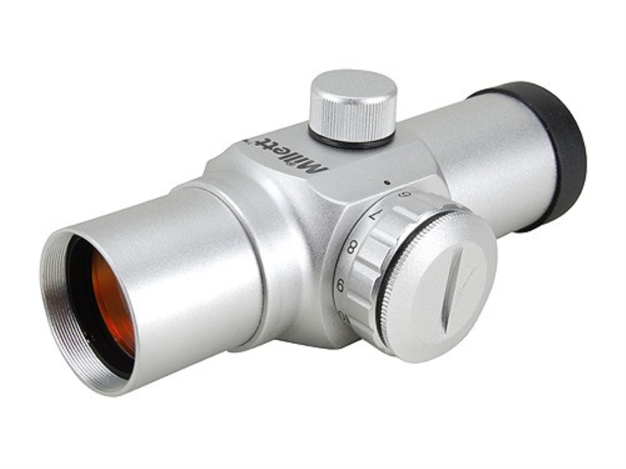 Millett Red Dot Sight 30mm Tube 1x 5 MOA Dot with Weaver-Style Rings Silver