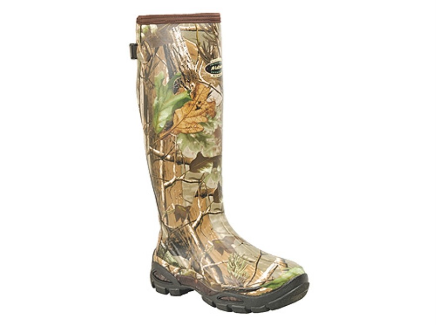 "LaCrosse Alpha Burly Sport 18"" Waterproof Uninsulated Hunting Boots Rubber Clad Neoprene Realtree APG Camo Men's 7"