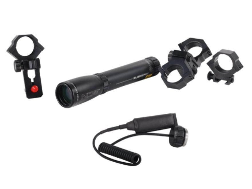 "Laser Genetics ND3 Sub Zero 18 mW Green Laser Designator with Pressure Switch, 1"" Scope Mount, Binocular/Spotting Scope Mount, 3/8"" Dovetail Ring Matte"