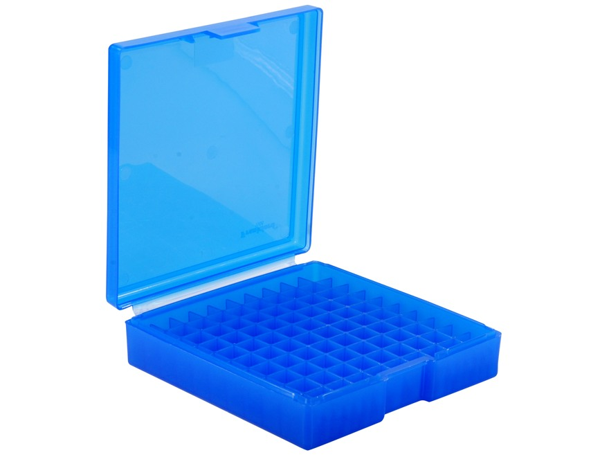 Frankford Arsenal Flip-Top Ammo Box #1008 40 S&W, 10mm Auto, 45 ACP 100-Round Plastic Blue Box of 10