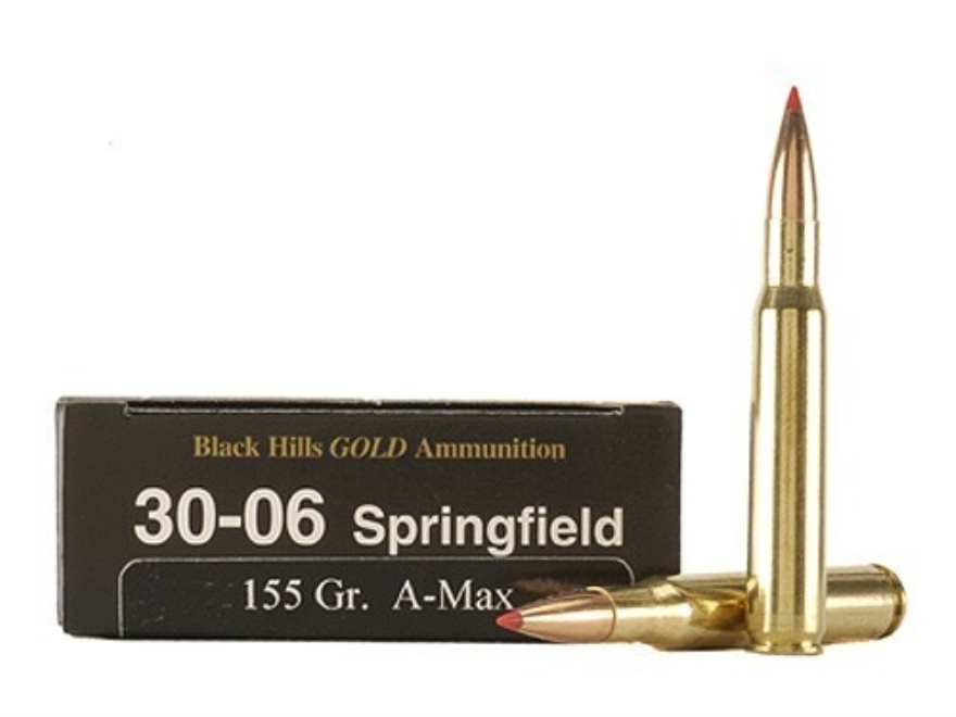 Black Hills Gold Ammunition 30-06 Springfield 155 Grain Hornady A-Max Box of 20