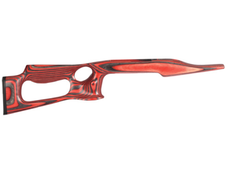 "Volquartsen Lightweight Thumbhole Rifle Stock Ruger 10/22 .920"" Barrel Channel Left Hand Laminated Wood Red"