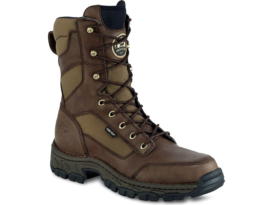 "Irish Setter Havoc 10"" Waterproof Uninsulated Hunting Boots Leather and Nylon Brown Men's"