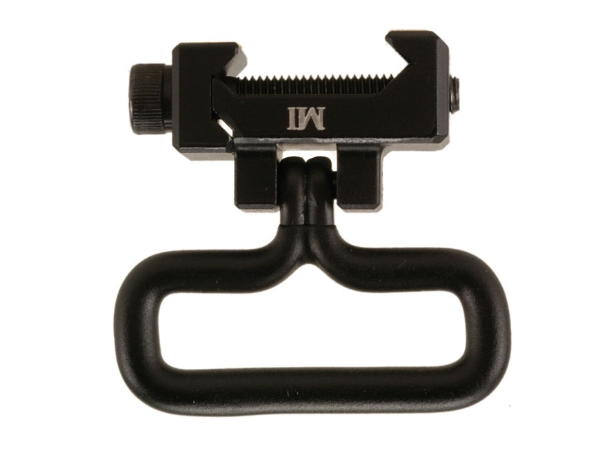 Midwest Industries Rail Mount Sling Adapter with Military-Style Sling Swivel AR-15 Aluminum Matte