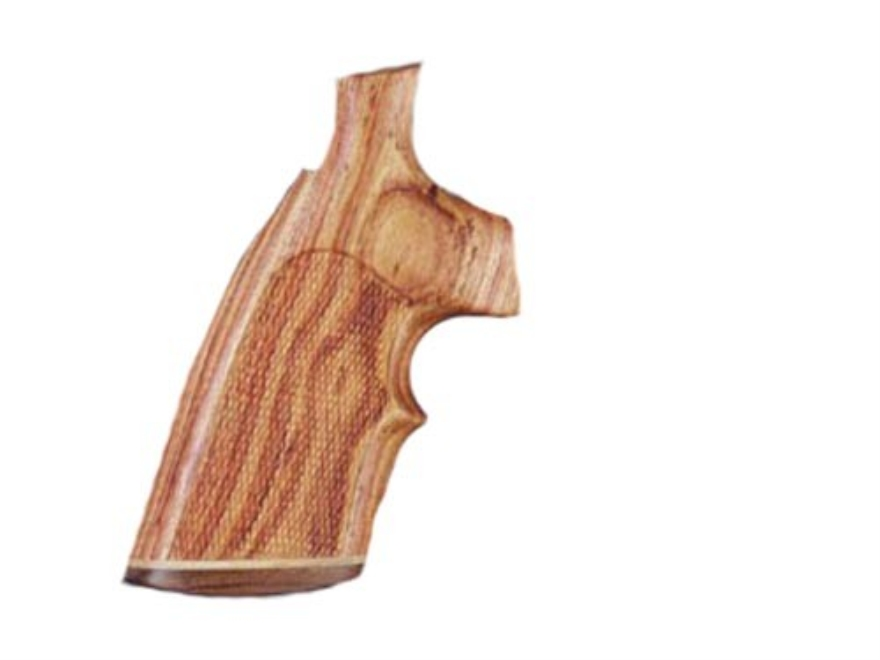 Hogue Fancy Hardwood Grips with Accent Stripe and Top Finger Groove Dan Wesson Large Frame Checkered