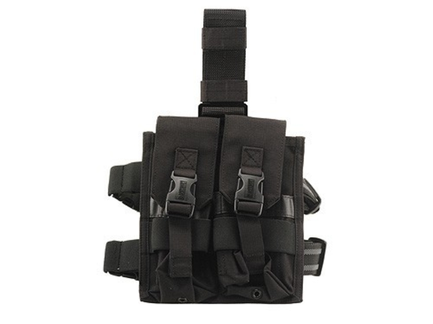BLACKHAWK! Omega Elite Enhanced Magazine Drop Leg Pouch AR-15 Holds 4 Magazine Nylon Black