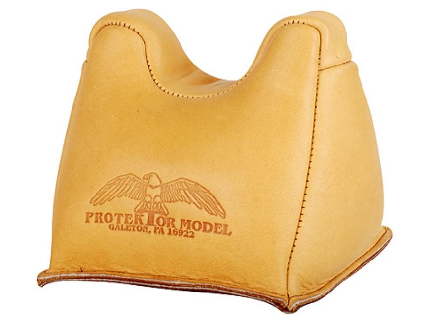 Protektor Standard Front Shooting Rest Bag Leather Tan Filled