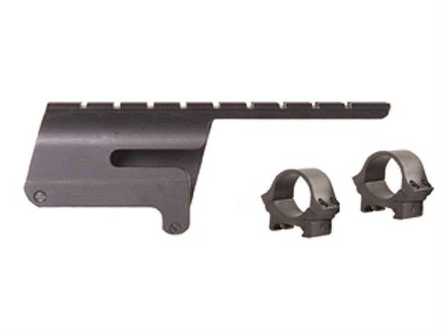 "B-Square Shotgun Saddle Mount with 1"" Rings Benelli Super Black Eagle 12 Gauge Matte"