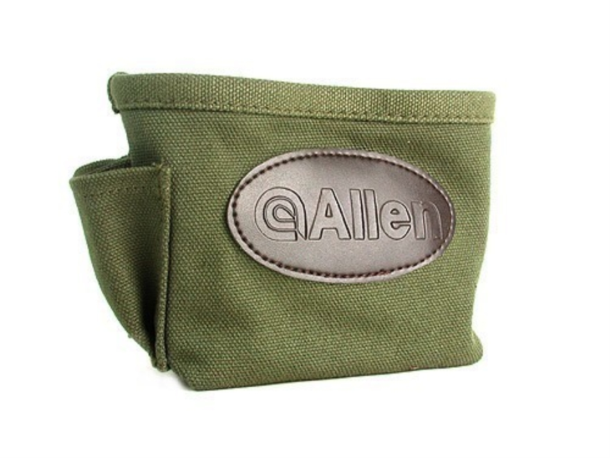 Allen Single Box Shotgun Shell Ammunition Carrier Canvas Green
