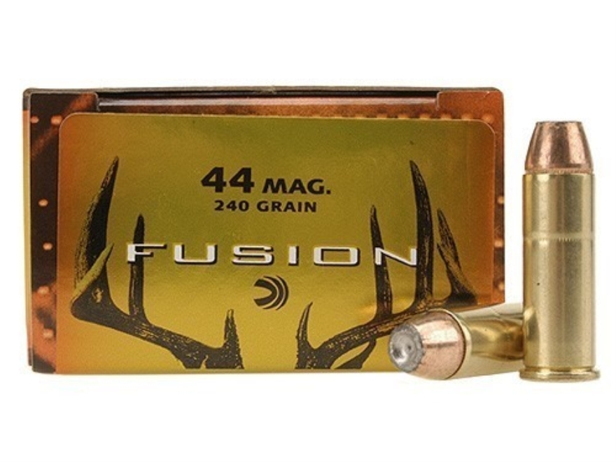 Federal Fusion Ammunition 44 Remington Magnum 240 Grain Jacketed Hollow Point Box of 20