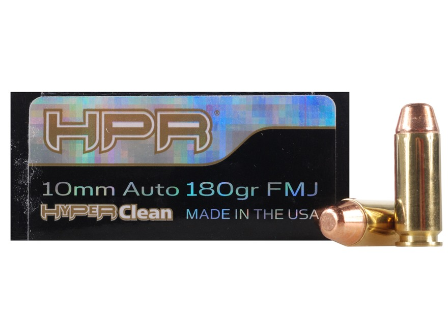 HPR HyperClean Ammunition 10mm Auto 180 Grain Full Metal Jacket Box of 50
