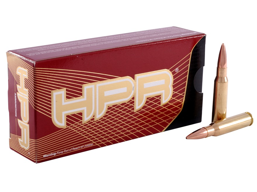 HPR HyperClean Ammunition 308 Winchester 168 Grain Hollow Point Boat Tail Box of 20