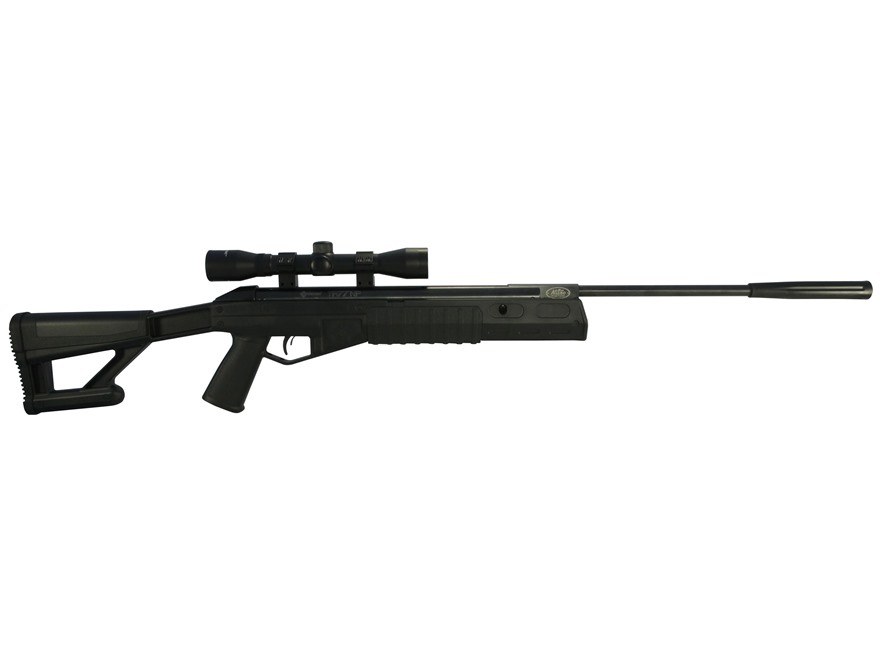 Crosman TR77 Tactical Break Barrel Air Rifle 177 Caliber Pellet Black Synthetic Stock Matte Barrel with 4x32mm Scope Factory Reconditioned