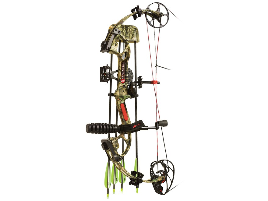 "PSE Sinister Compound Bow Package Right Hand 50-60 lb 25.5""-30.5"" Draw Length Mossy Oak Break Up Infinity Camo"