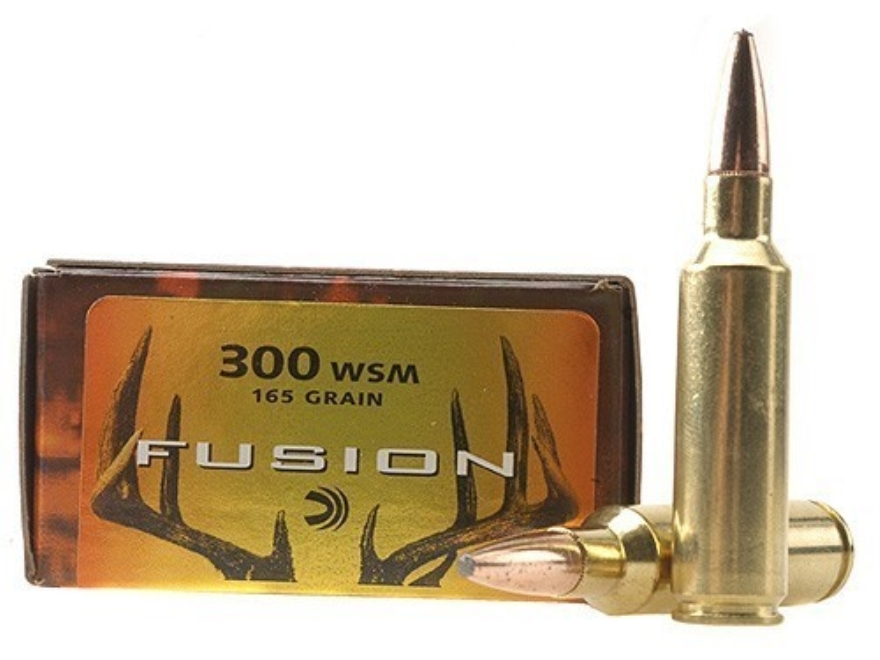 Federal Fusion Ammunition 300 Winchester Short Magnum (WSM) 165 Grain Spitzer Boat Tail Box of 20