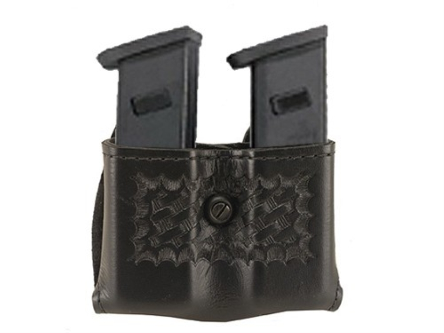 """Safariland 079 Double Magazine Pouch 1-3/4"""" Snap-On Beretta 92, 96, Browning BDM, HK P7M13, Ruger P Series, Sig Sauer P226, P228, S&W 59, 459, 659 Polymer"""