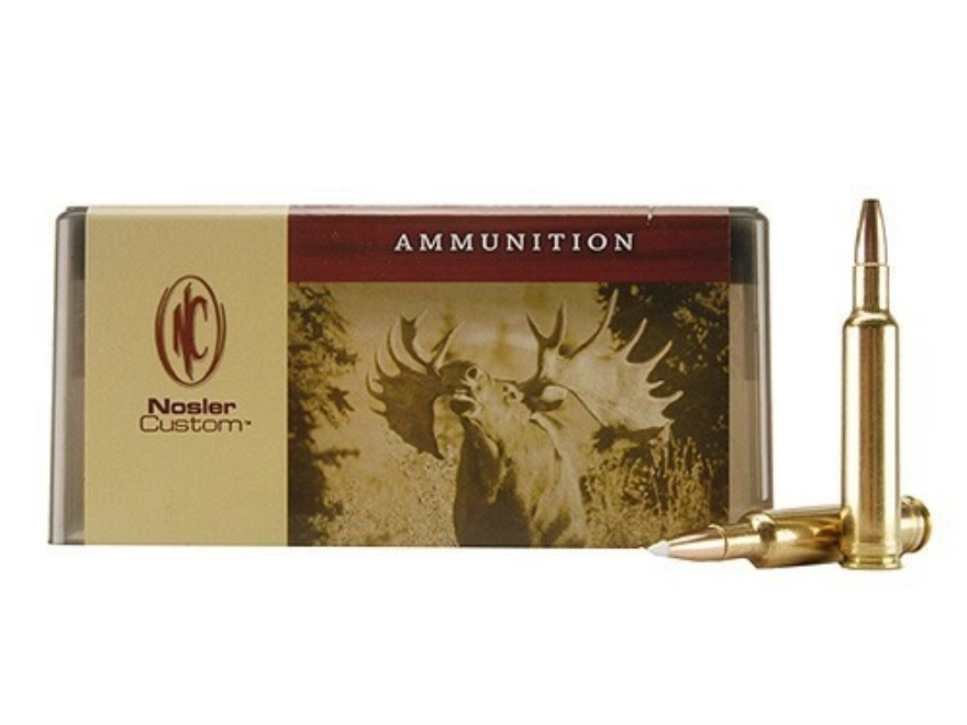Nosler Custom Ammunition 7mm Weatherby Magnum 140 Grain AccuBond Spitzer Box of 20