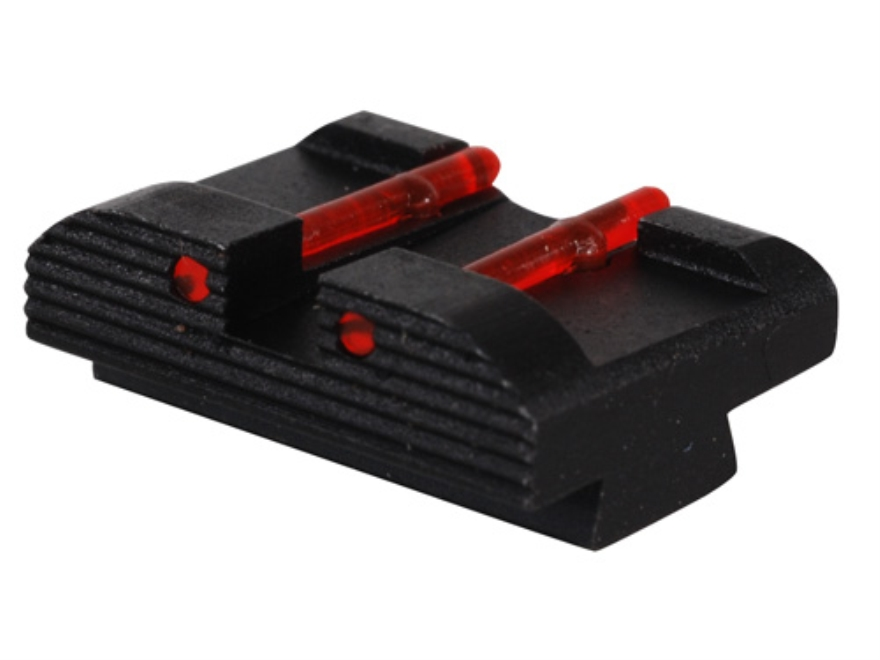 "HIVIZ Rear Sight Glock 10mm Auto, 45 ACP, 45 GAP Models .272"" Height Steel Fiber Optic"