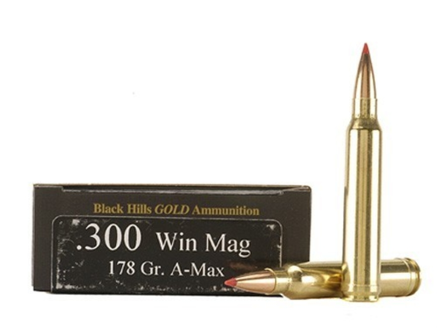 Black Hills Gold Ammunition 300 Winchester Magnum 178 Grain Hornady A-Max Box of 20