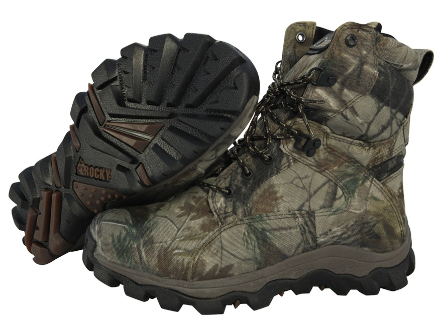 "Rocky Lynx Extreme 8"" Waterproof 800 Gram Insulated Hunting Boot Realtree AP Camo Mens 8 D"