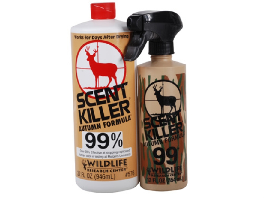 Wildlife Research Center Scent Killer Combo Scent Elimination Autumn Formula Combo Bottle Liquid 32 oz and Spray Liquid 12 oz