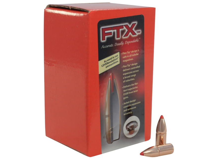 Hornady FTX Bullets 32 Winchester Special (321 Diameter) 165 Grain Flex Tip eXpanding Box of 100