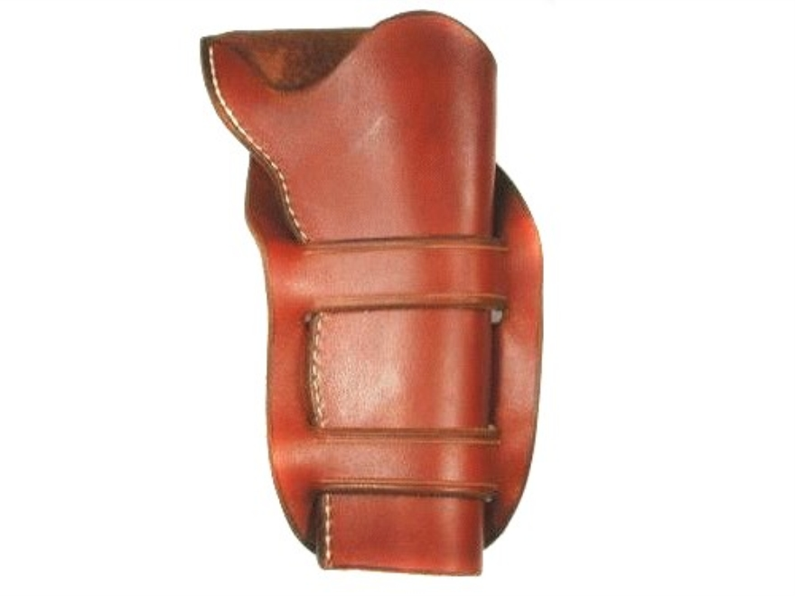 "Van Horn Leather Mexican Double Loop Crossdraw Holster 4.75"" Single Action Right Hand Leather Chestnut"