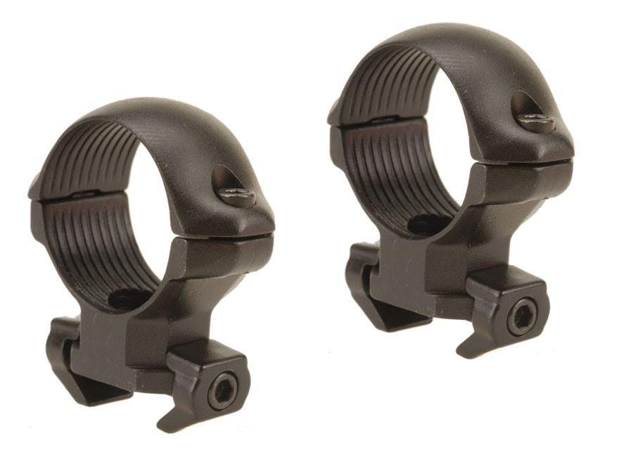 "Millett 1"" Angle-Loc Windage Adjustable Weaver-Style Rings Matte Medium"