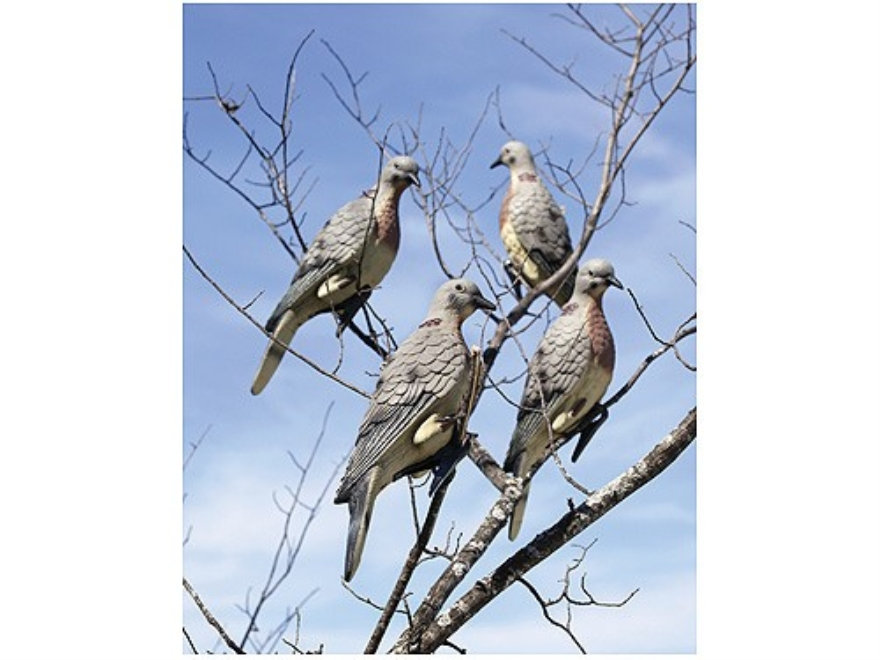 Lucky Duck Clip-on Dove Decoy Polymer Pack of 4