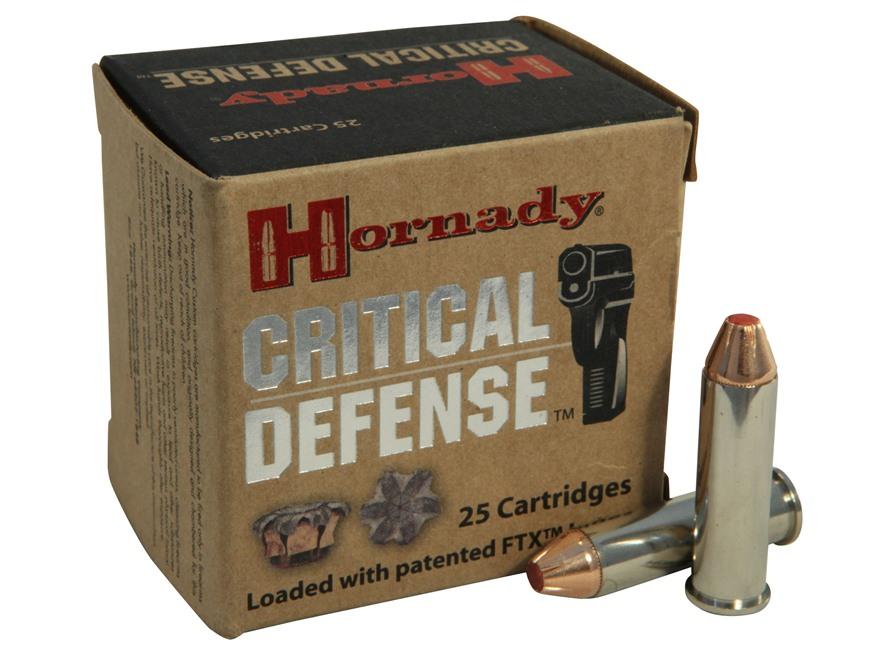 Hornady Critical Defense Ammunition 357 Magnum 125 Grain Flex Tip eXpanding Box of 25