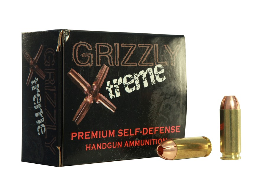 Grizzly Self-Defense Ammunition 10mm Auto 140 Grain Xtreme Copper Hollow Point Lead-Free Box of 20