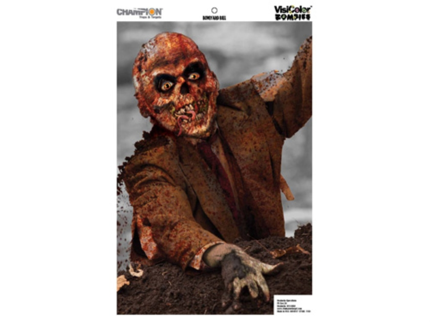 "Champion Zombie Boneyard Bill Target 24"" x 45"" Paper Package of 10"