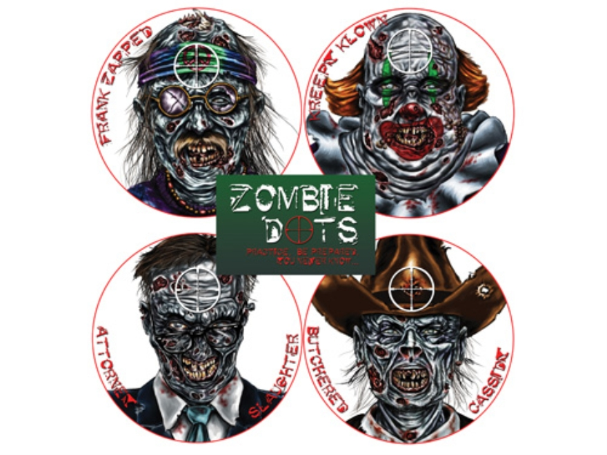 "Lyman Zombie Dot Variety Pack Target 8"" Self-Adhesive Package of 12"
