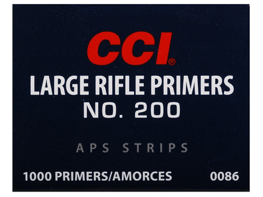 CCI Large Rifle APS Primers Strip #200
