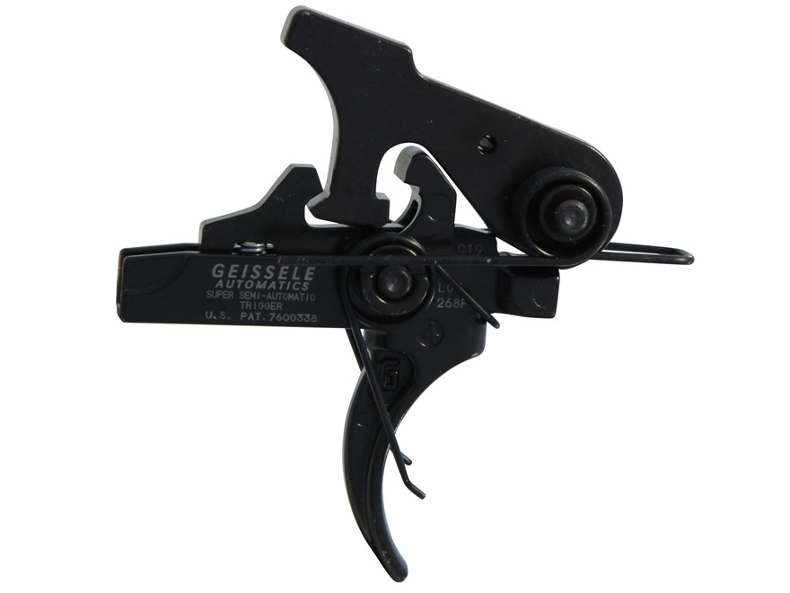 "Geissele SSA Super Semi Automatic Trigger Group AR-15, LR-308 Small Pin .154"" Two Stage Matte"