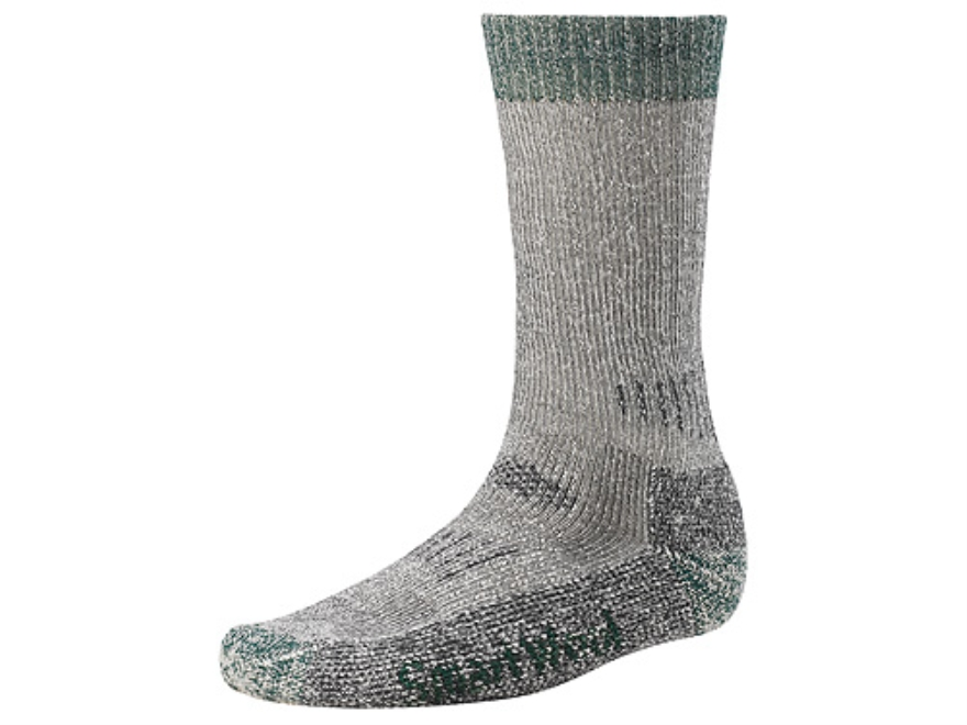 SmartWool Men's Hunting Extra Heavyweight Crew Socks Wool Blend Gray and Forest Large 9-11-1/2