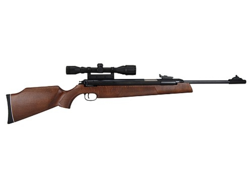 RWS 54 Magnum Air Rifle 22 Caliber Pellet Wood Stock Blue Barrel with RWS Airgun Scope 4x 32mm Matte