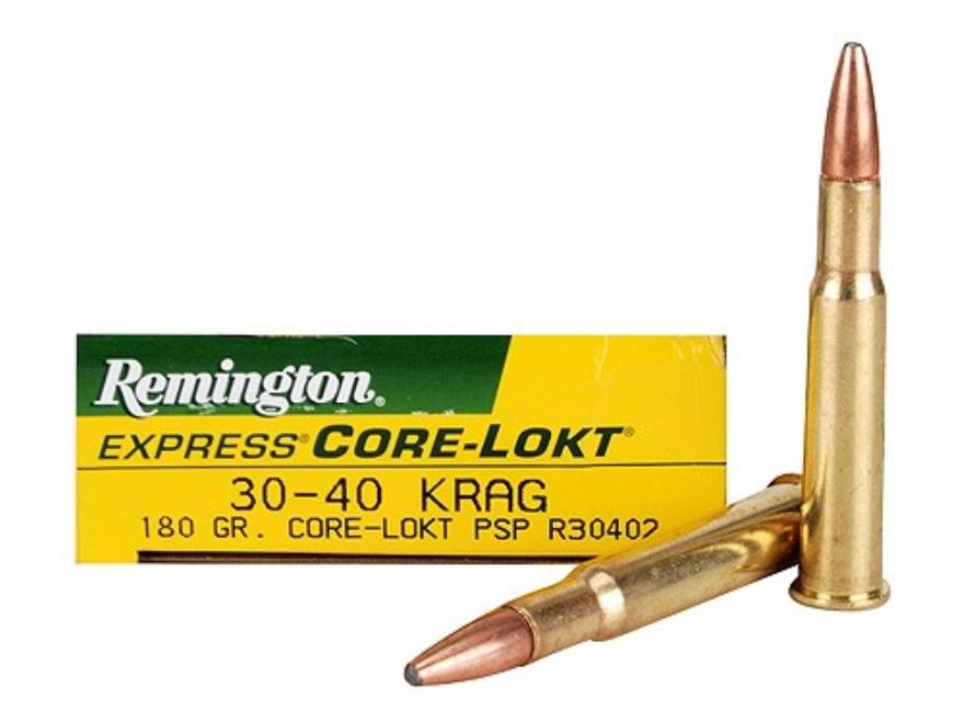 Remington Express Ammunition 30-40 Krag 180 Grain Pointed Soft Point Core-Lokt Box of 20