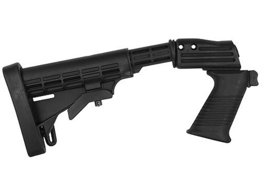TAPCO Intrafuse T6 Stock Set 6-Position Collapsible Mossberg 500, 590 Synthetic Black