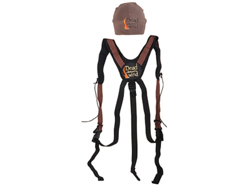 Dead Down Wind Bino Hooker Binocular Strap Harness with Fleece Skull Cap Polyester Brown