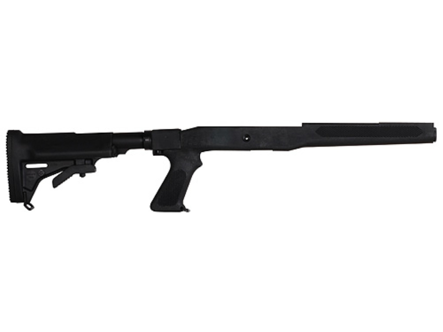 Choate 5-Position Collapsible Rifle Stock with Pistol Grip Ruger Mini-14 Synthetic Black