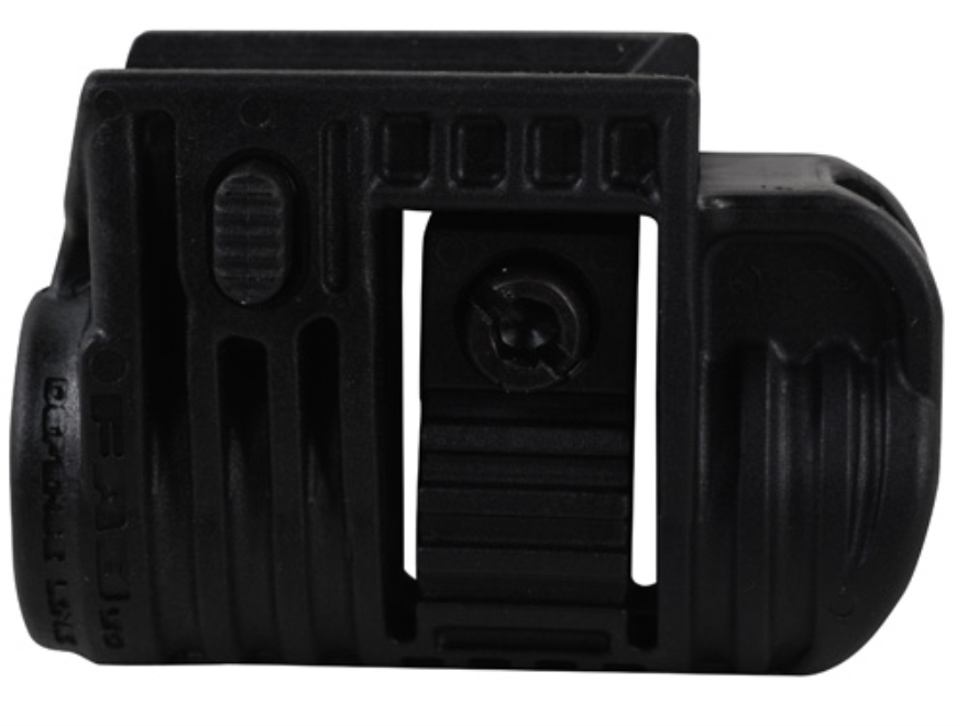"Mako Picatinny Rail Flashlight Mount 3/4"" Ring Diameter Polymer Black"