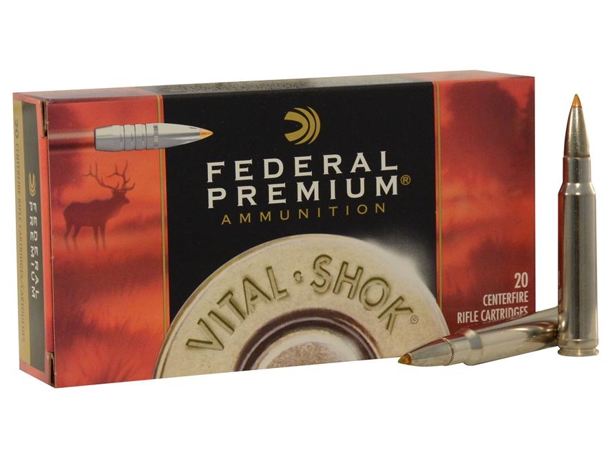 Federal Premium Vital-Shok Ammunition 338 Winchester Magnum 200 Grain Trophy Bonded Tip Box of 20