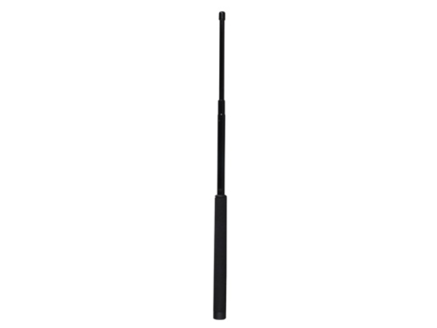 "ASP LEVERLOC Baton 26"" Collapsible 4140 Steel Shaft Black Chrome Finish Foam Grip Black"
