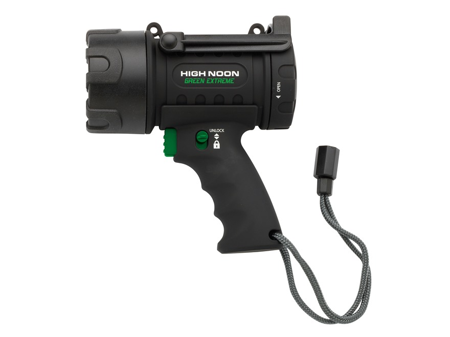 Browning High Noon Extreme Spotlight Green LED requires 3 C Batteries Polymer Black